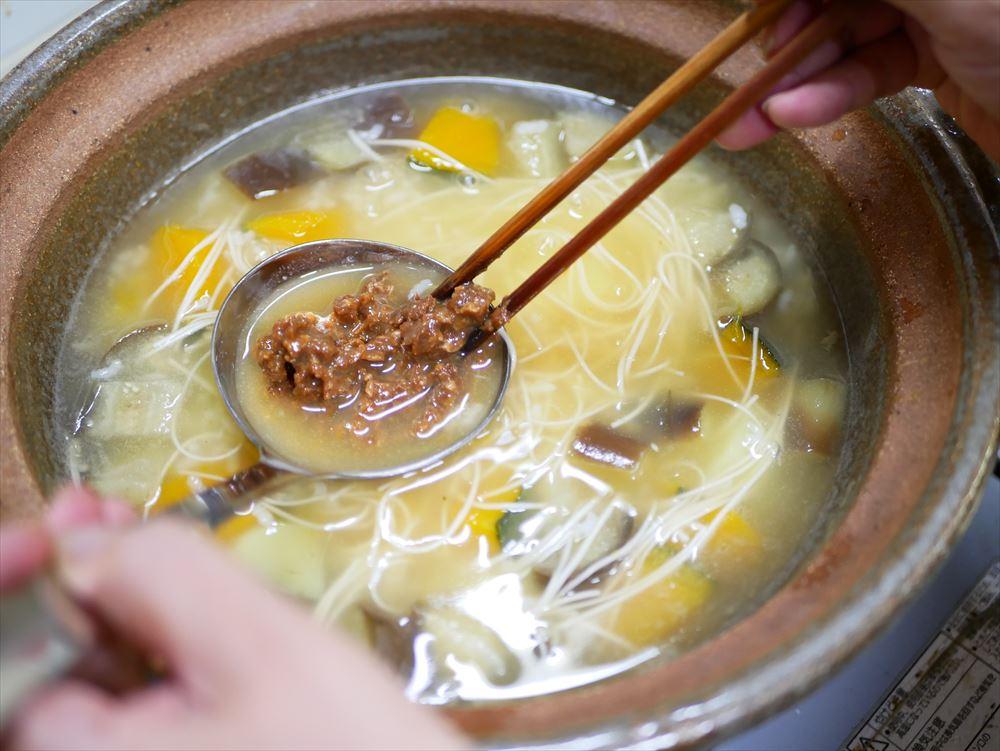 【夏野菜の味噌レシピ】たった30分、身体にやさしい味噌おじや│みそを溶かしながら混ぜたらできあがり。